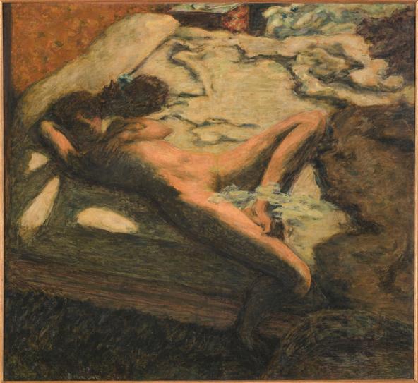 Pierre Bonnard-L'indolente ou Femme assoupie sur un lit