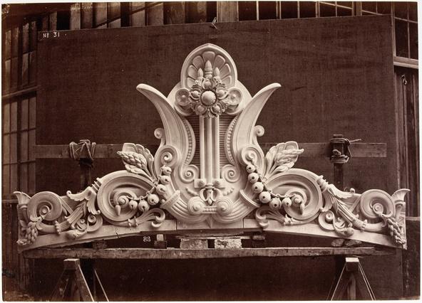 Edouard Durandelle-Le Nouvel Opéra de Paris, sculpture ornementale