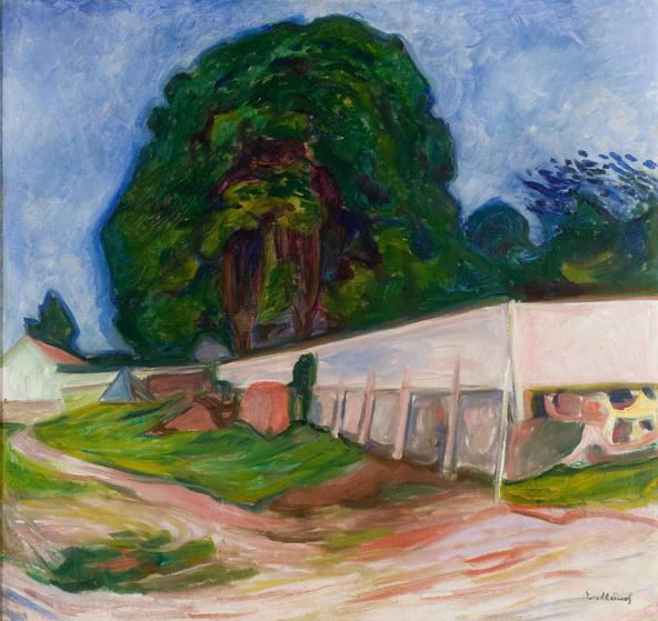 Edvard Munch-Nuit d'été à Aagaardstrand
