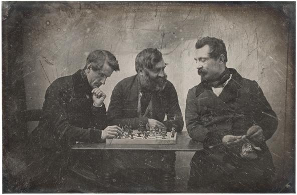Anonyme-Une partie d'échecs