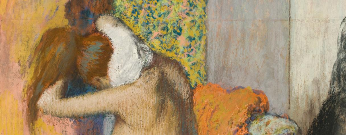 Après le bain, femme nue s'essuyant la nuque (détail) (en 1898), Degas, Edgar
