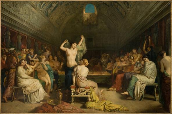 Théodore Chassériau -Tepidarium, salle où les femmes de Pompéi venaient se reposer et se sécher en sortant du bain