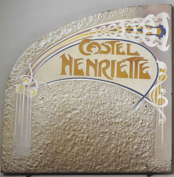 Hector Guimard-Enseigne du Castel Henriette