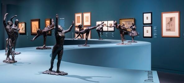 Exposition Degas Danse Dessin. Salle De la danse.