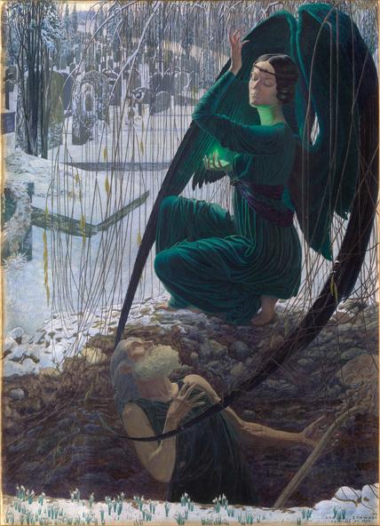 Carlos Schwabe-La Mort et le fossoyeur