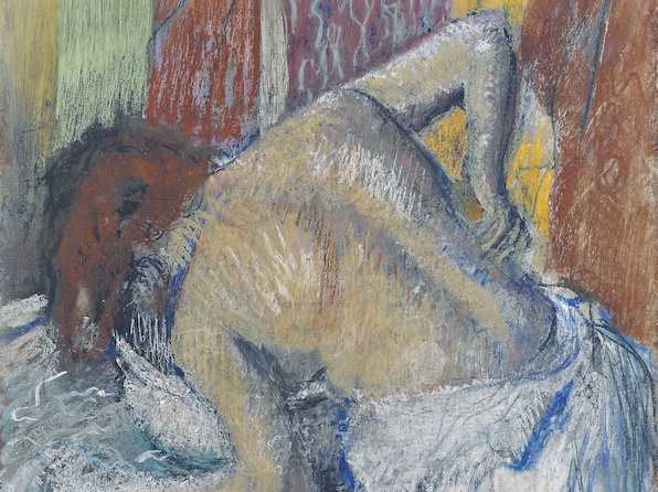Femme s'épongeant le dos (Vers 1895), Edgar Degas