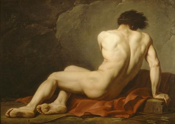 Jacques Louis David-Académie d'homme, dit Patrocle