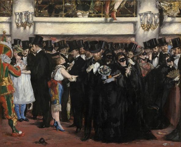Edouard Manet-Bal masqué à l'Opéra