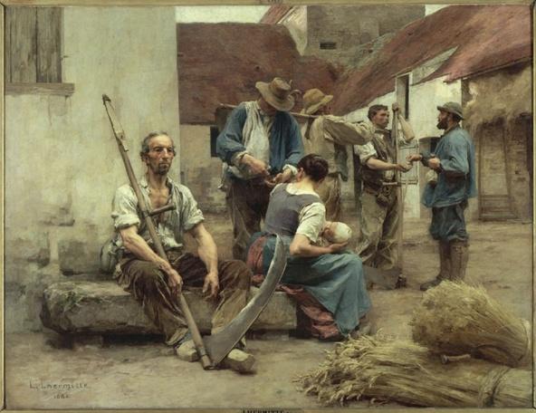 Léon Lhermitte-La paye des moissonneurs