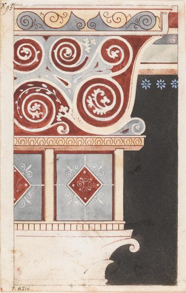 Eugène Viollet-le-Duc-Fragment d'architecture pompéienne pour Histoire d'un dessinateur