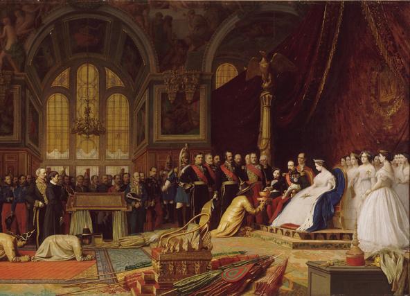 Jean-Léon Gérôme-Réception des ambassadeurs siamois par l'empereur au palais de Fontainebleau