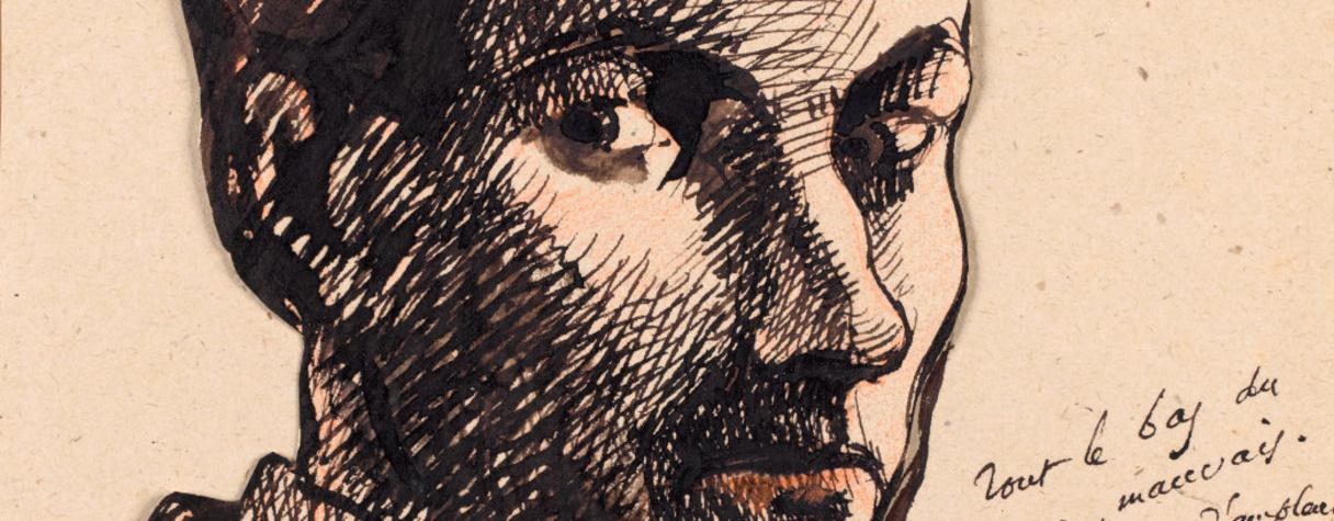 Autoportrait, Baudelaire Charles (1821-1867) Ecrivain et poète français,