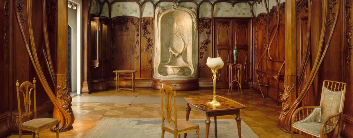 Alexandre Charpentier, Alexandre Bigot, Fontaine, Boiserie de salle à manger  ©RMN-Grand Palais (Musée d'Orsay) / Hervé Lewandowski