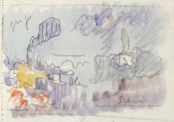 Paul Signac-Relevés d'après des oeuvres du Turner Bequest, Londres (détail)