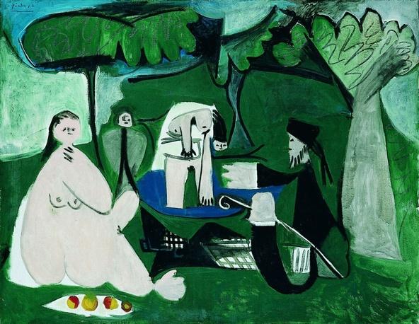 Pablo Picasso-Le déjeuner sur l'herbe d'après Manet