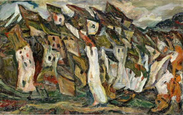 Chaïm Soutine-Les maisons