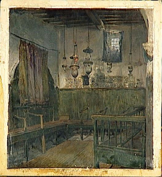 Ismaël Gentz-Intérieur d'une synagogue à Tripoli