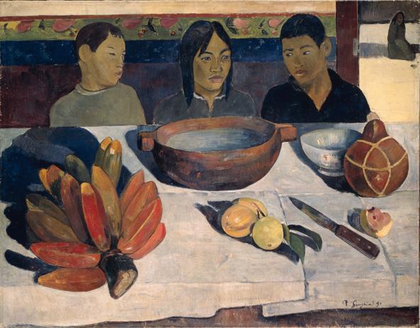 Paul Gauguin-Le repas dit aussi Les bananes