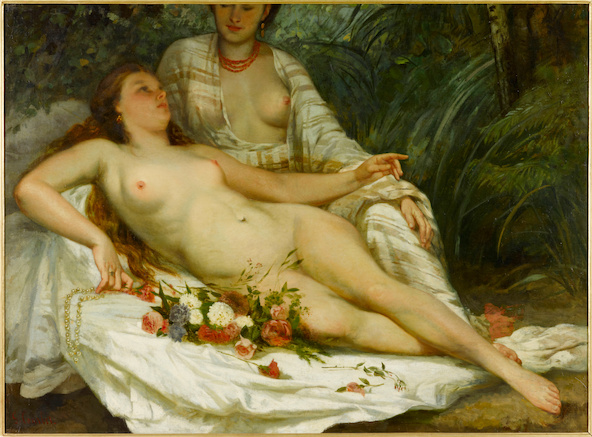 Gustave Courbet-Baigneuses