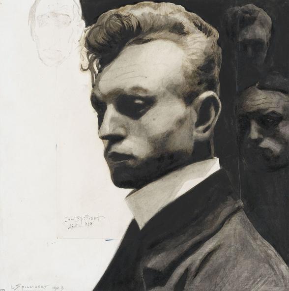 Léon Spilliaert-Portrait de l'artiste par lui-même