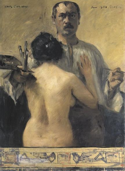 Lovis Corinth-Autoportrait avec nus de dos