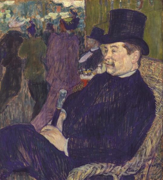 Henri de Toulouse-Lautrec-Portrait de Monsieur Delaporte au jardin de Paris