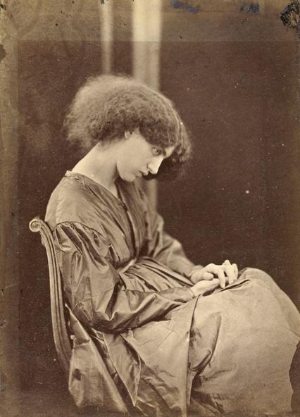 John Robert Parsons, Dante Gabriel Rossetti-Jane Morris posant dans la maison de Rossetti