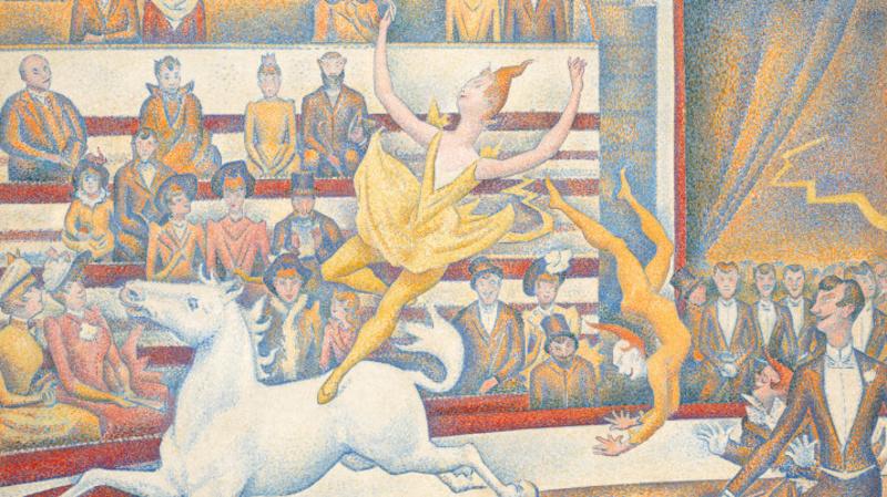 Le cirque (détail) (en 1891), Seurat, Georges