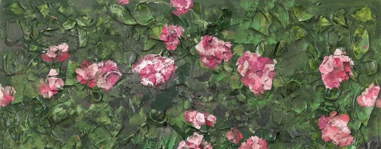 Peinture de rose (Près de la tombe de Van Gogh) XVII, Julian Schnabel