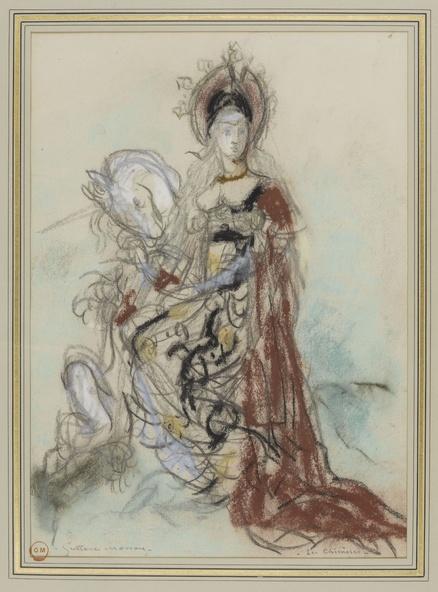 Gustave Moreau-Femme et licorne