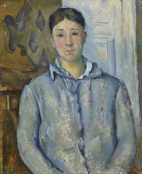 Paul Cézanne-Madame Cézanne en bleu