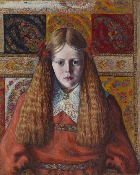 Konrad Mägi-Portrait de jeune Norvégienne