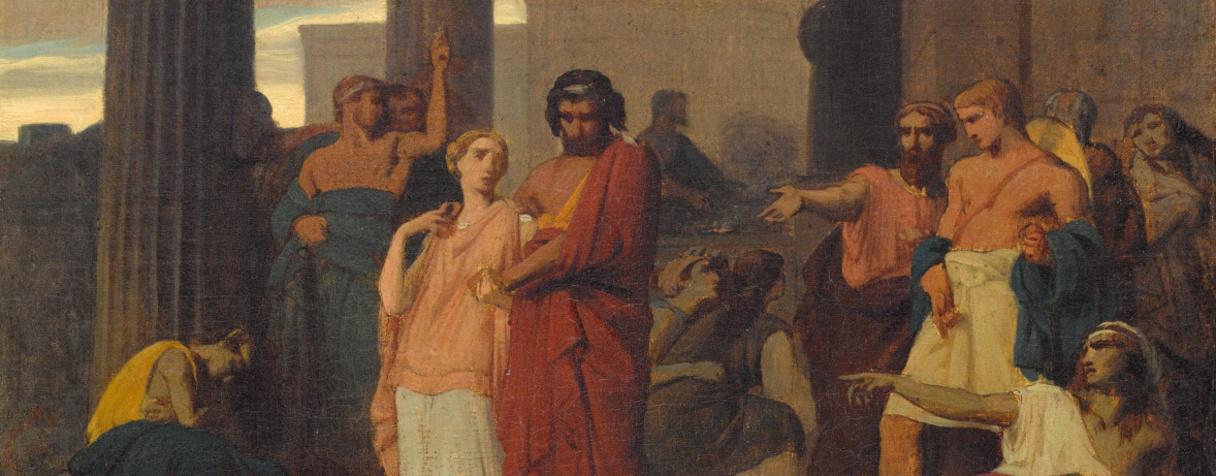 Œdipe et Antigone s'exilant à Thèbes