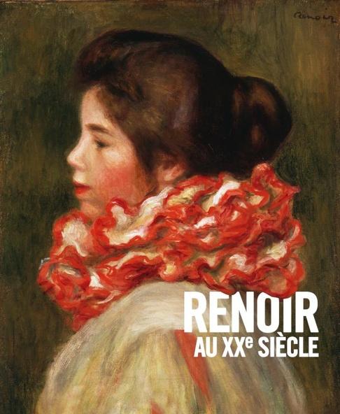 Pierre Auguste Renoir-Fille à la collerette rouge (détail)