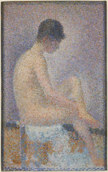 Georges Seurat-Poseuse de profil