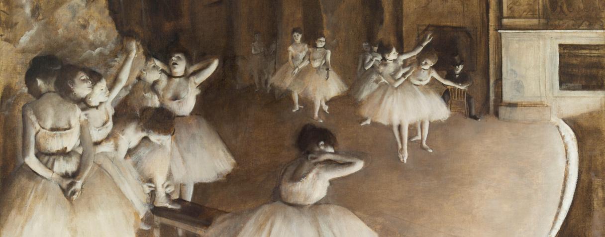 Répétition d'un ballet sur la scène (en 1874), Degas, Edgar