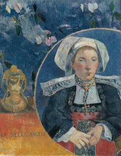 La belle Angèle, Mme Satre (1868-1932) hôtelière à Pont Aven, La Belle Angèle, Gauguin Paul (1848-1903) peintre, dessinateur, graveur, sculpteur et céramiste,, Gauguin, Paul
