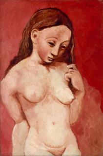 Nu sur fond rouge (en 1906), Picasso, Pablo