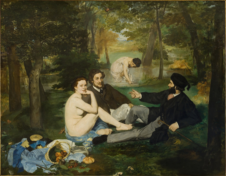 Le déjeuner sur l'herbe (en 1863), Manet, Edouard