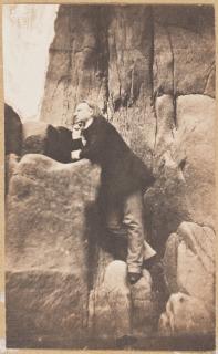 Victor Hugo dans le rocher des Proscrits, Hugo, Charles