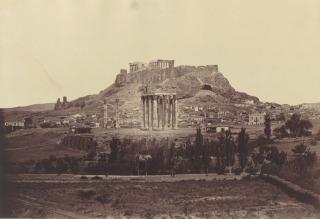 Athènes|Athènes, l'Acropole avec le temple de Jupiter, Robertson, James D.|Beato, Felice