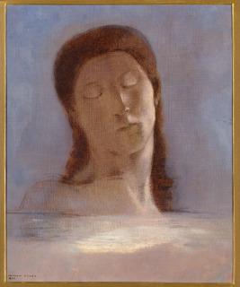 Les yeux clos (en 1890), Redon, Odilon