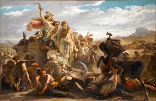 Les femmes gauloises : épisode de l'invasion romaine (en 1851), Glaize, Auguste