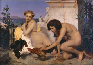 Jeunes Grecs faisant battre des coqs, Gérôme, Jean-Léon, Gérôme Jean Léon (1824-1904) ,