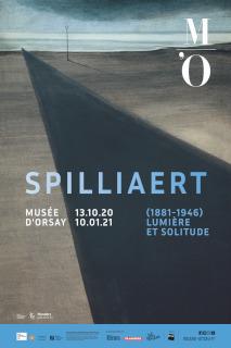 Affiche 40x60 de l'exposition « Léon Spilliaert (1881-1946). Lumière et solitude »