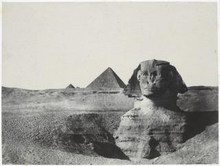 Egypte moyenne. Le Sphinx vu de face, Du Camp, Maxime|Blanquart-Evrard, Louis Désiré|Gide et Baudry
