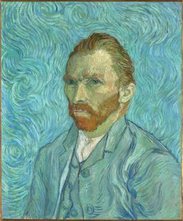 Portrait de l'artiste (détail) (en 1889), Van Gogh, Vincent