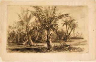Paysage des Antilles, Pissarro Camille (1830-1903) peintre,