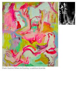 Chaïm Soutine / Willem de Kooning. La peinture incarnée, couverture du catalogue
