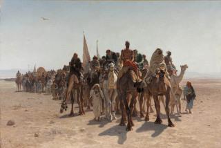Pèlerins allant à La Mecque (détail), Belly, Léon